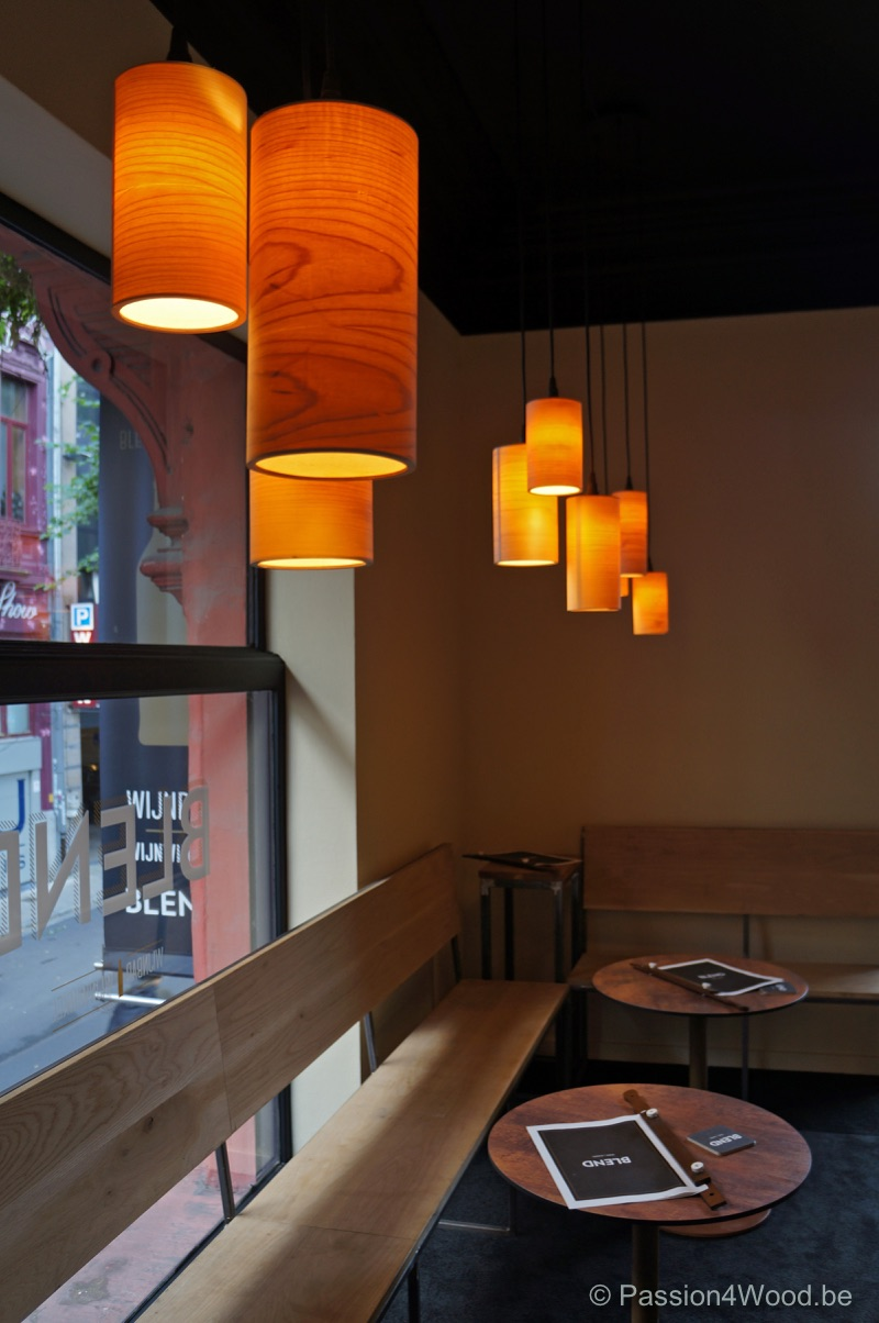Blend Gent winebar - tube lamps in maple wood 1