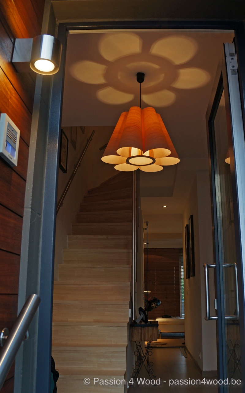 Star lamp in huis