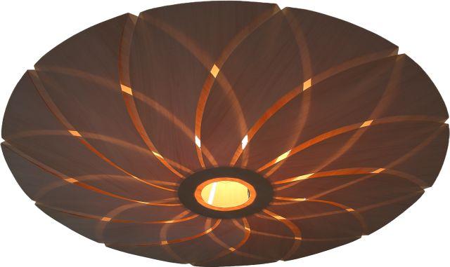 Lotus moderne houten hang plafond verlichting for Plafondverlichting