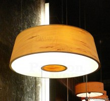 Donut pendant lamp in tulipwood