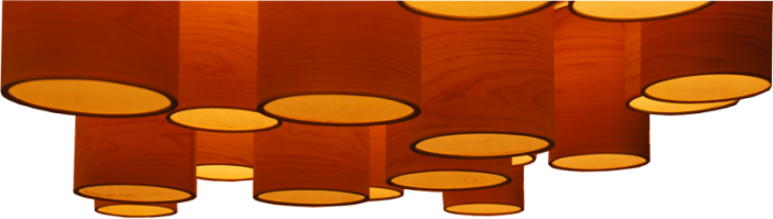 ceiling lights in maple wood