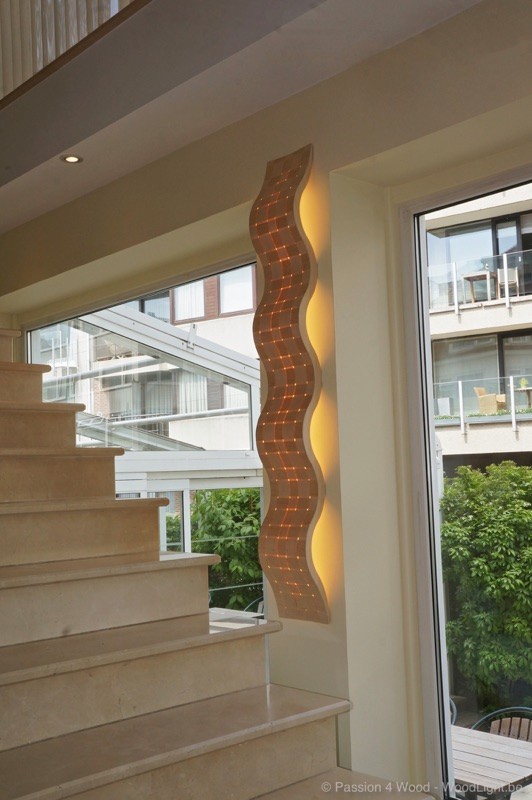 wave wall lamp Passion4Wood woodlight collection
