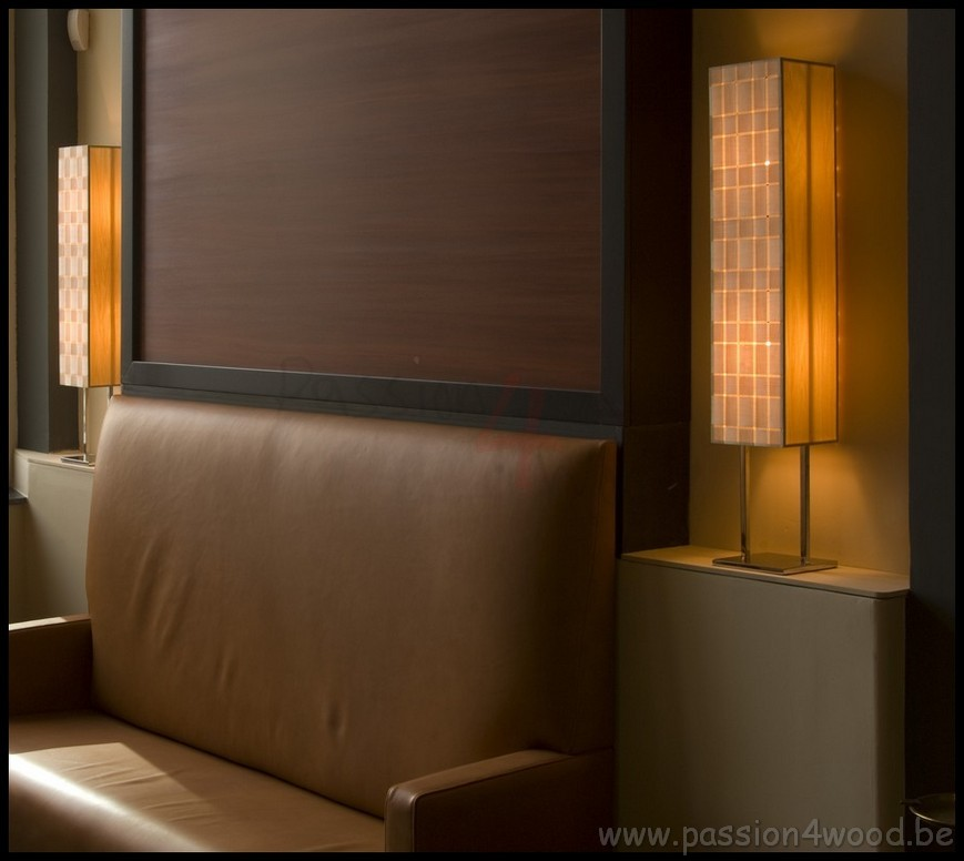 Passion 4 Wood - Small lamps in wood veneer and metal frame - Wooden design lighting in hotel Maison Merode - 11