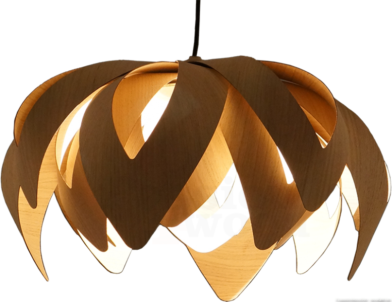 Tulip Pendant Light In Wood Mike Vanbelleghem Pion 4 Small