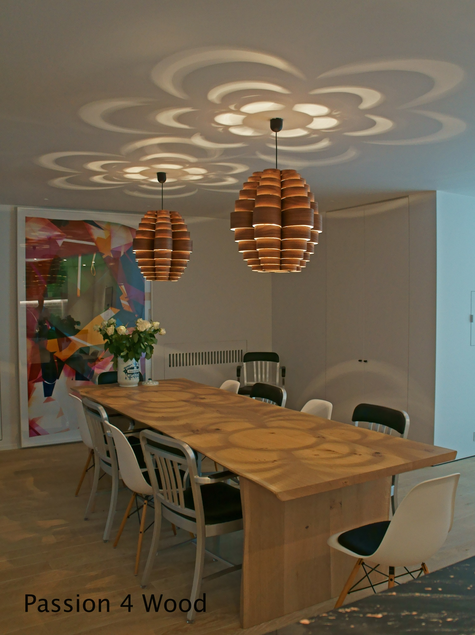 Glow moderne houten hang plafond verlichting passion for Design lamp hout