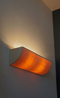 Uplight wall lamp in maple wood